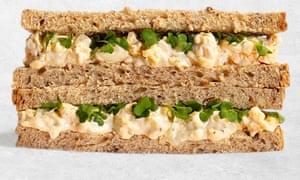 A Pret a Manger egg sandwich