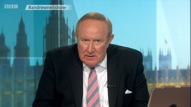 Television programme:The Andrew Neil Show Series 1: 11/03/2020
