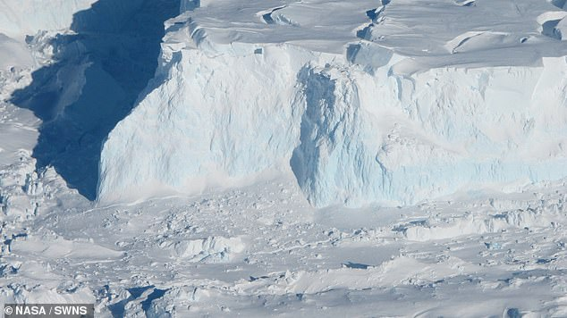 Channels carrying warm water along the Antarctic seabed are the 'critical link' between the ocean and the base of the melting Thwaites Glacier, pictured, two studies have found