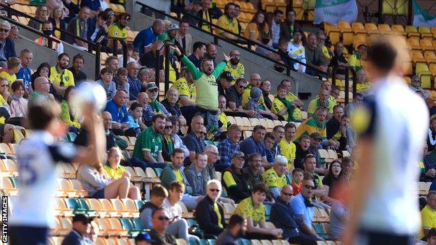 Norwich City's home game against Preston North End on Saturday was one of seven fixtures in the EFL to trial a limited return of fans