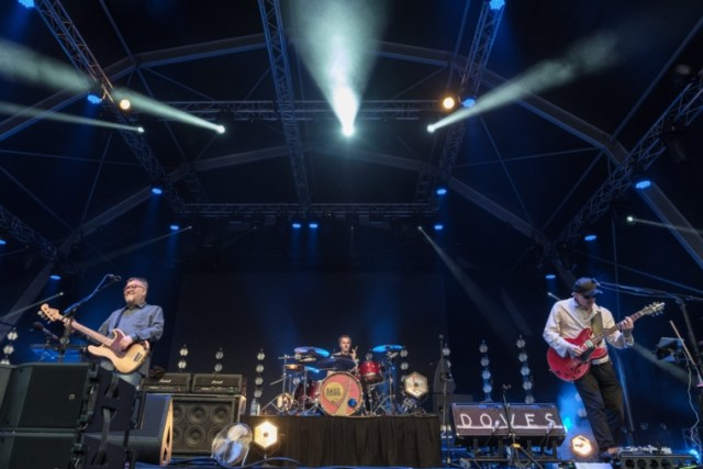 Jimi Goodwin, Jez Williams and Andy Williams from Doves perform on stage as part of the Summer Series at Somerset House on July 16, 2019 in London, England. (Photo: Rob Ball/WireImage)