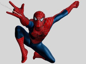 Tobey Maguire as Spider-Man against white background