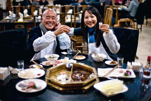 Ken Hom and Ching-He Huang chefs exploring china. Free pic