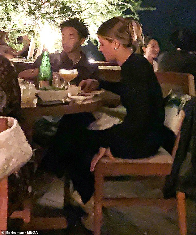 Moonlight dinner:Sofia Richie and her former flame Jaden Smith were spotted enjoying an intimate dinner with friend Moisés Arias and his girlfriend at Nobu restaurant on Saturday evening