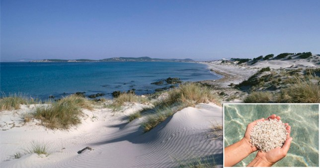 Tourist fined for stealing sand from the beach