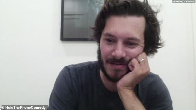 He shared good news:Adam beamed with pride as he talks about his son but did not offer a name or when his son arrived