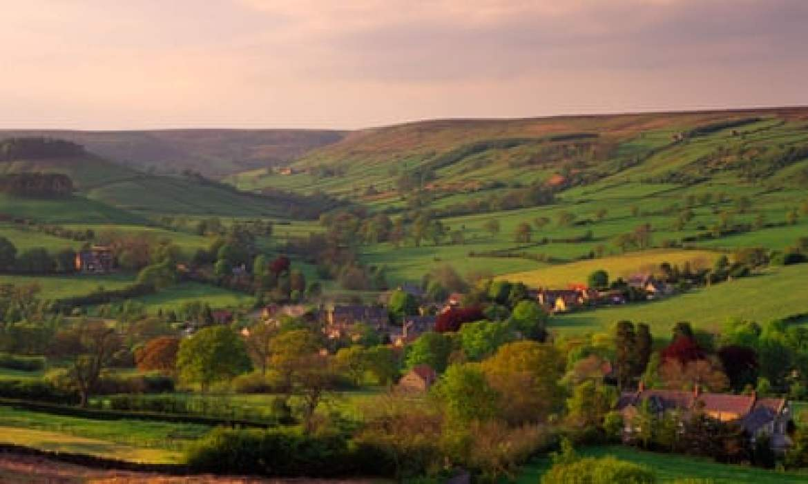 Rosedale Abbey village from Chimney bank