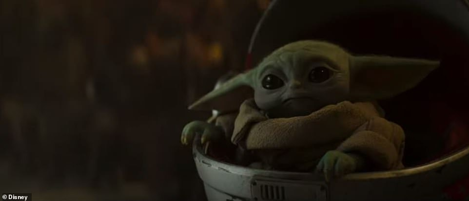 BY first:But the bounty hunter finds that helping the baby, which looks like a relative of Yoda, is an overwhelming task. 'You expect me to search the galaxy and deliver this creature to a race of enemy sorcerers?' he asks a woman who is only heard but not seen. He is told 'this is the way'
