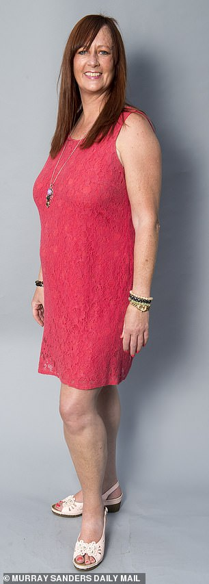 Jackie Frith is pictured above before her weight loss