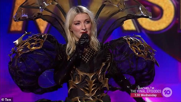 Kate said after being unmasked: 'I had so much fun. It was just... crazy and one of the most extreme experiences I've ever had!' Pictured:Kate Miller-Heidke