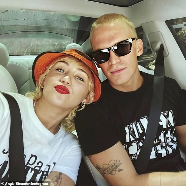 Sad news: Miley confirmed she'd split from Cody after less than a year of dating on Instagram in August, telling fans the pair are taking time apart to 'work on' themselves