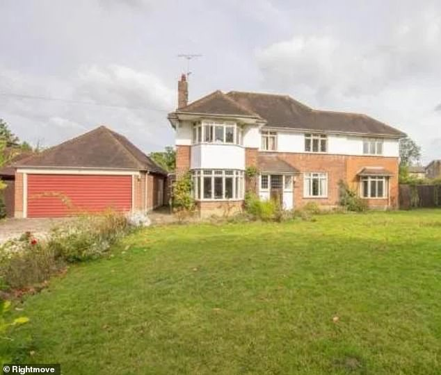 Dream home plans: The former TOWIE star, 30, and her spouse, 35, purchased a run down 1920s property earlier this year and had dreamed of turning it into a five-bedroom £1.4 million dream home over a planned year and a half long project
