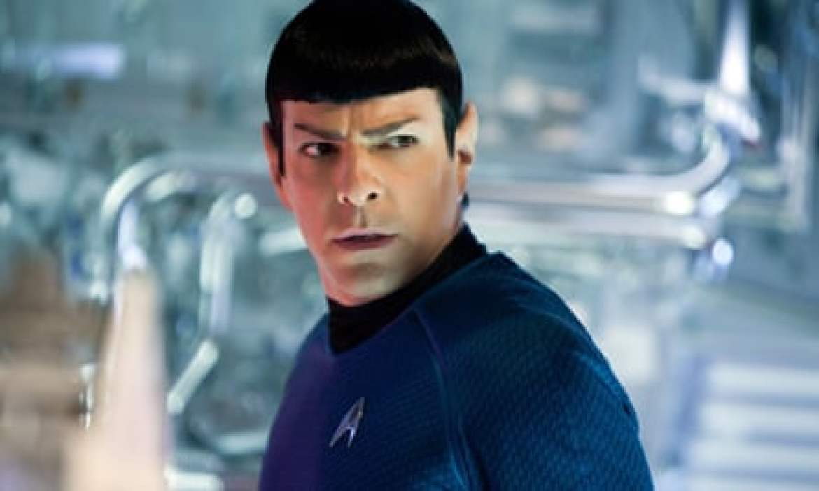 Zachary Quinto as Spock in Star Trek Into Darkness.