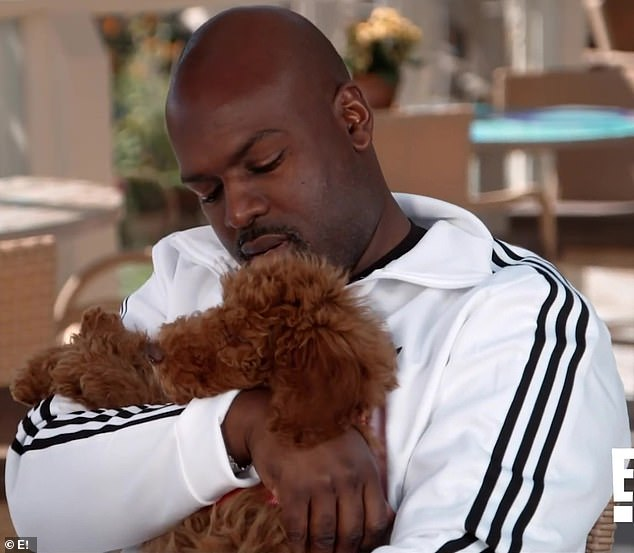 Making it happen:Little did Kris know that Corey was playacting at being obsessed with the dog in order to needle her about not doing much of the work of caring for Bridget