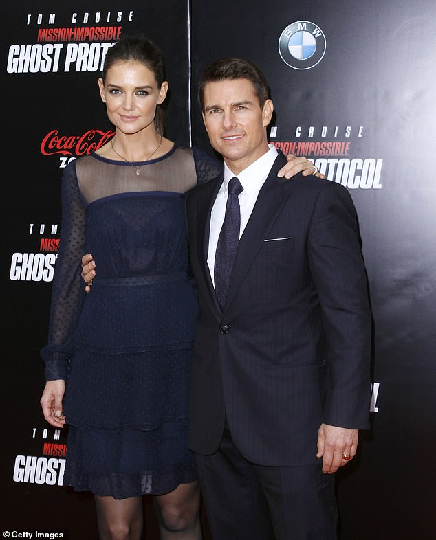 Former flame: Holmes was famously married to Tom Cruise, 58, from 2006 until their dramatic divorce in 2012, and they share daughter Suri, 14, born in 2006; Katie and Tom pictured in 2011