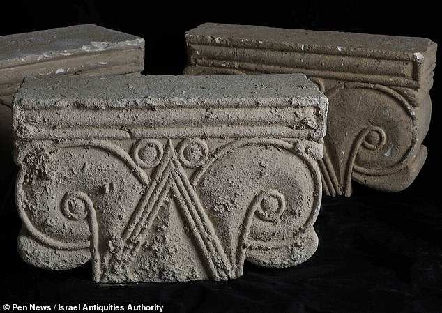 'At this point it is still difficult to say who hid the capitals in the way they were discovered and why they did so,' Professor Billig explained. 'There is no doubt that this is one of the mysteries at this unique site to which we will try to offer a solution,' he added