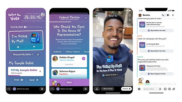 Snapchat will be releasing voting PSAs with Barack Obama and Snoop Dogg, as well asThe app has also added voter information and registration tools inside of Snapchat Minis, third-party apps that run on Snapchat