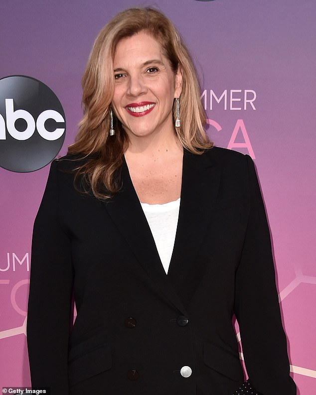The right choice:Showrunner Krista Vernoff said she wasn't planning on covering the pandemic on the show until her team of writers convinced her it would be 'irresponsible not to.' She's seen August 2019 above