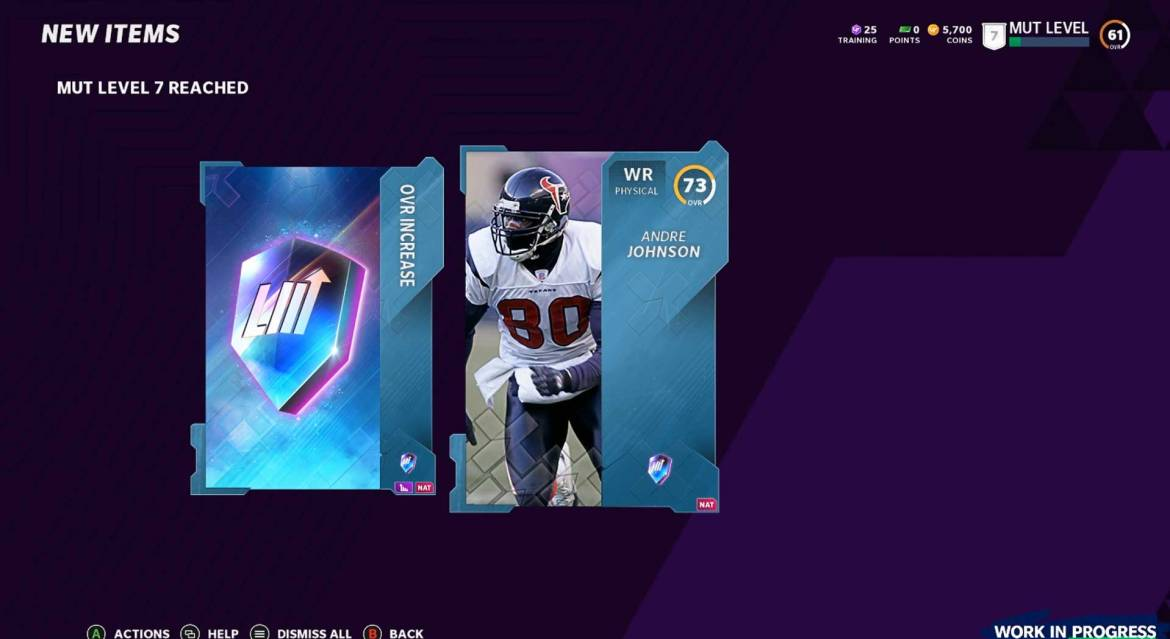 MUT Level Master Andre Johnson