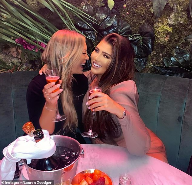 Party in style! The reality star shared several updates to her Instagram where she sipped Champagne with her friends and even downed shots at Menagerie Restaurant and Bar