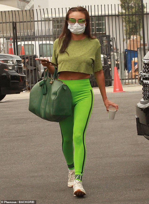 Mean in green: Jeannie Mai arrived to rehearsals in an eye-catching monochromatic green ensemble