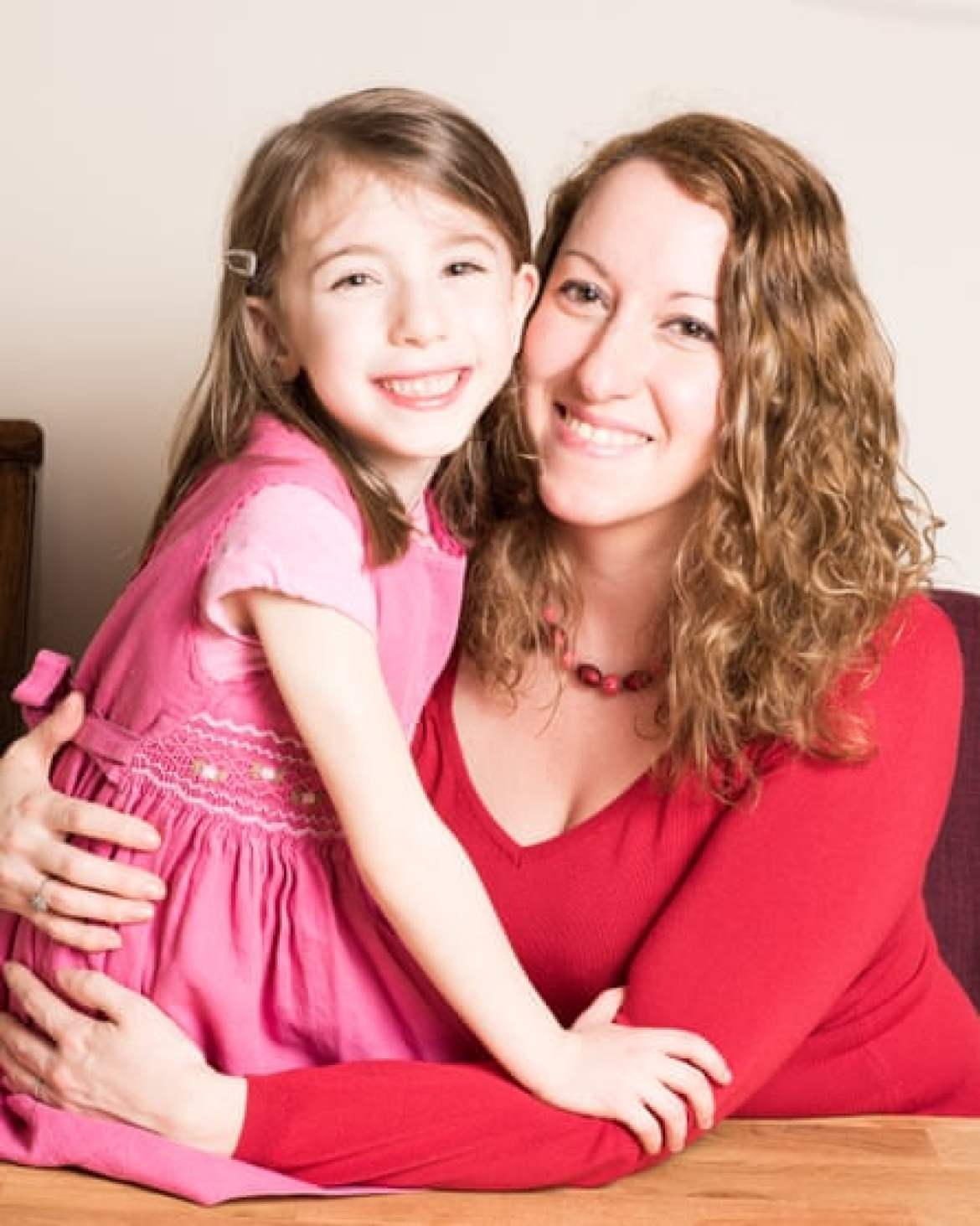Donna Ferguson and her daughter Flora.
