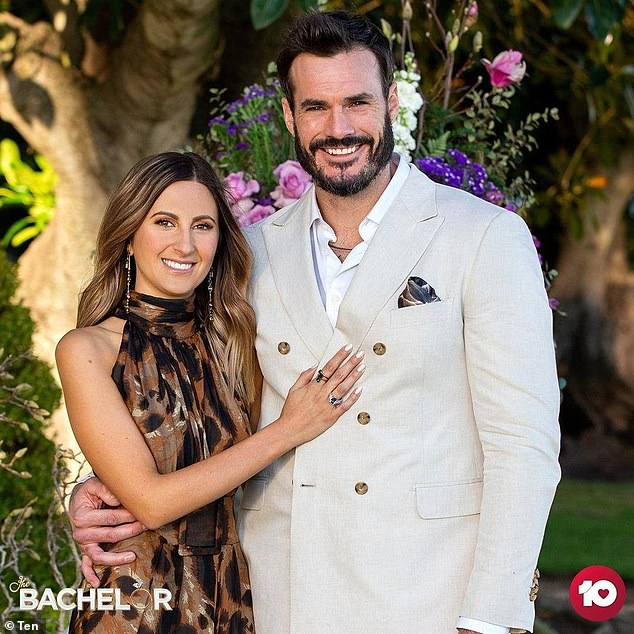 Happily ever after: A conflicted Locky chose Irena as his winning contestant during The Bachelor's emotional finale on Thursday