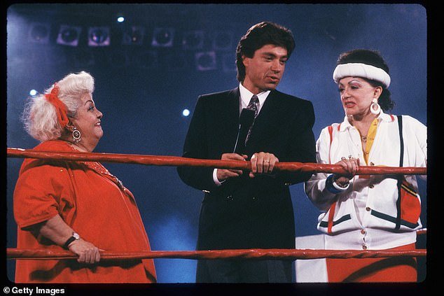 GLOW:Jackie was one of the key creators and trainers on G.L.O.W., The Gorgeous Girls of Wrestling, a syndicated TV show from Las Vegas that ran for five years in the 1980s, as stated by her official website; Jackie and Late Show host Ross Shaffer pictured in 1988