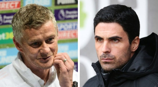 Arsenal boss Mikel Arteta has hailed Manchester United's attacking players