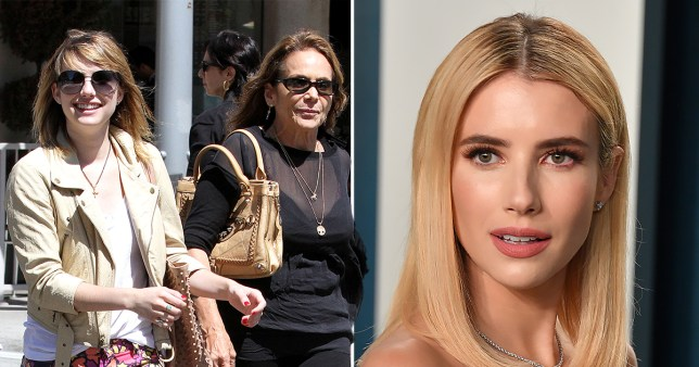 Emma Roberts pictured with mum Kelly Cunningham