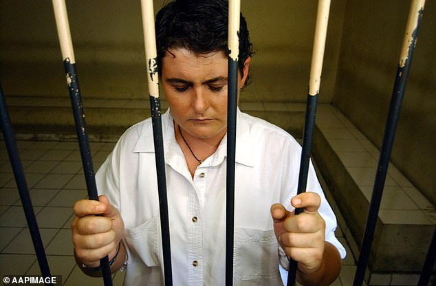 Will she do it?Bali Nine heroin mule Renae Lawrence has sensationally hinted she could be making an appearance on I'm a Celebrity... Get Me Out of Here! next year. Pictured in a holding cell during her trial atDenpasar Court onOctober 21, 2005