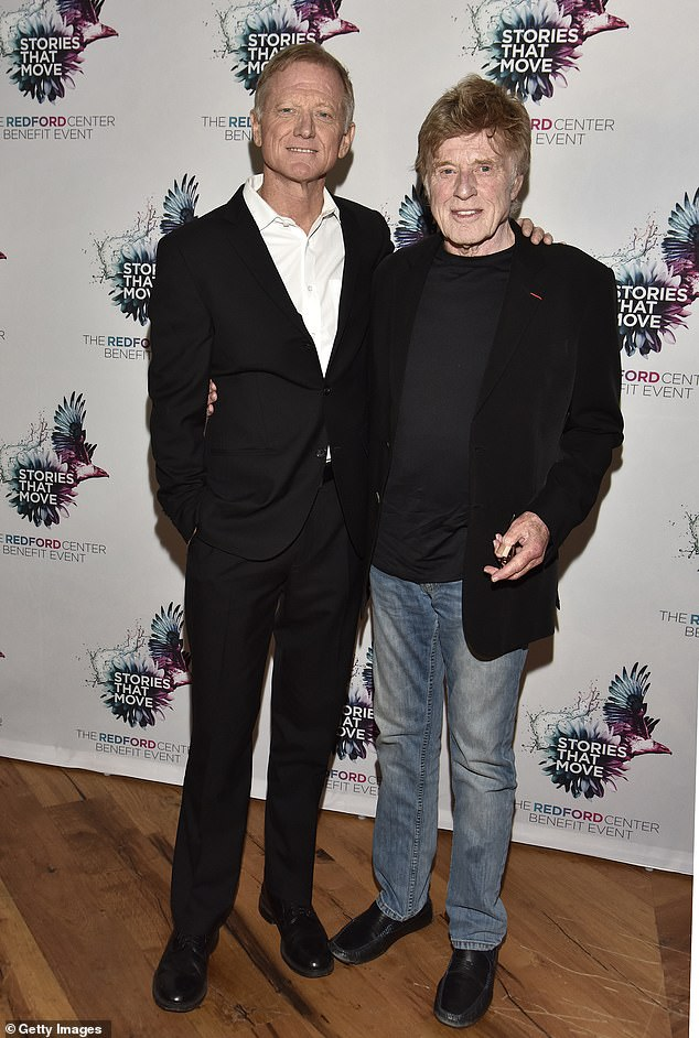 Gone too soon:James Redford - son of acting legend Robert Redford - had died at the age of 58 following a liver cancer battle, as the father and son are seen in December 2018