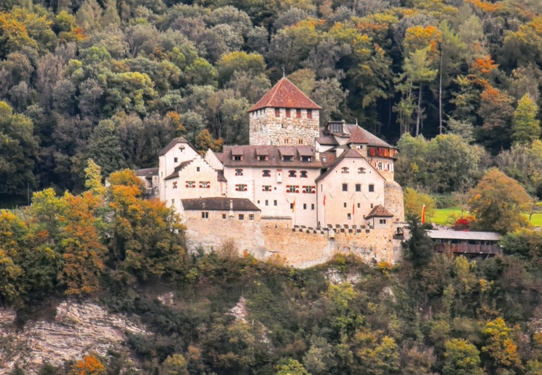 A view of Vaduz Castle which dates back to the 12th century (Picture: Sadie Whitelocks)