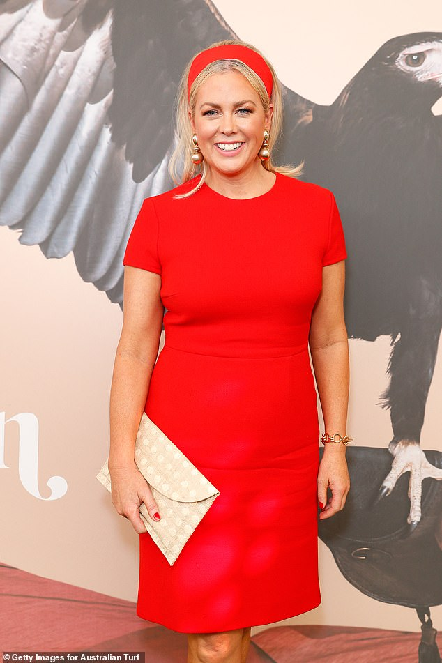 Head over heels: Sunrise host Sam Armytage (pictured in November 2019) couldn't help but gush over her fiancé, Richard Lavender, at Seven's Upfronts presentation on Wednesday