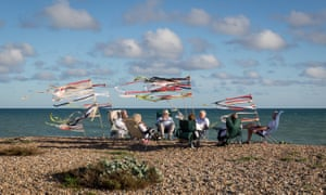 Drinks on the beach, Ferring, West Sussex