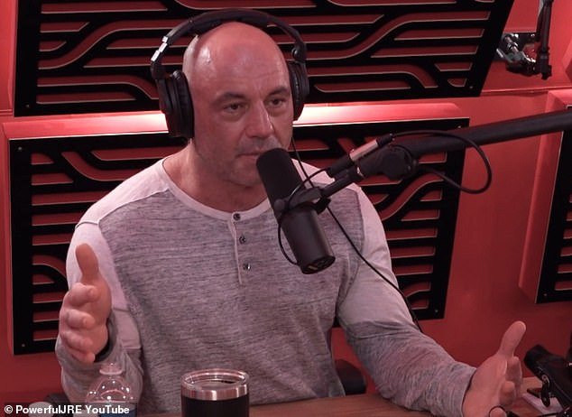 Supportive: Rogan appeared to be more than sympathetic when it came to West's well-chronicled issues with mental health and subsequent medications