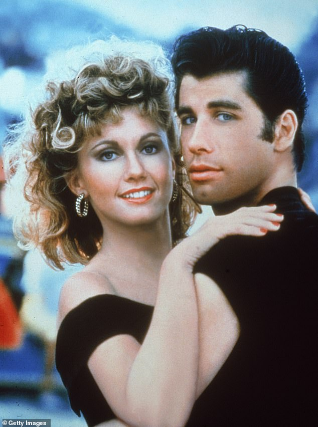 Young love: Olivia, who starred in the film opposite John Travolta (pictured) insisted there's 'nothing deep' to her character, and she's just 'a girl who loves a guy'