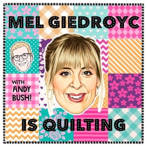 Mel Giedroyc Is Quilting.