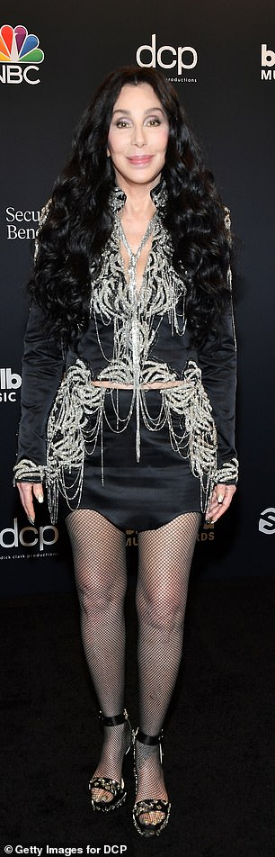 Cher seen here at the Billboard music awards earlier this month