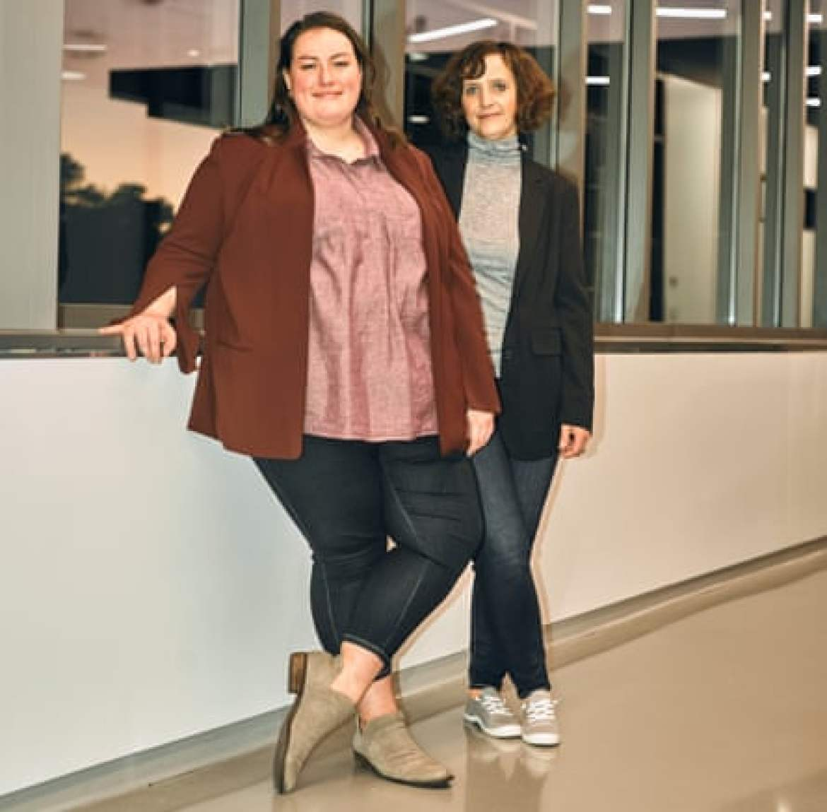 Biomilq co-founders Michelle Egger (left) and Leila Strickland