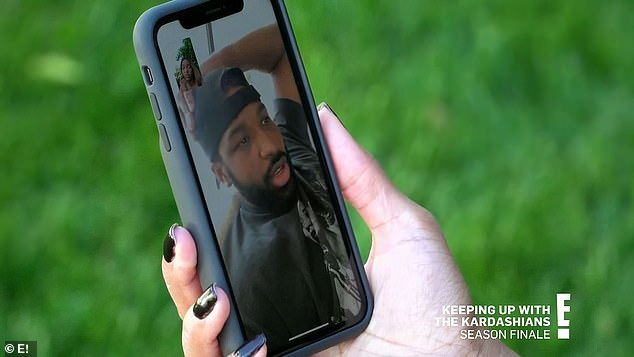 Phone talk:Malika was working on something behind the scenes too, calling Tristan to talk to him about his relationship with Khloé