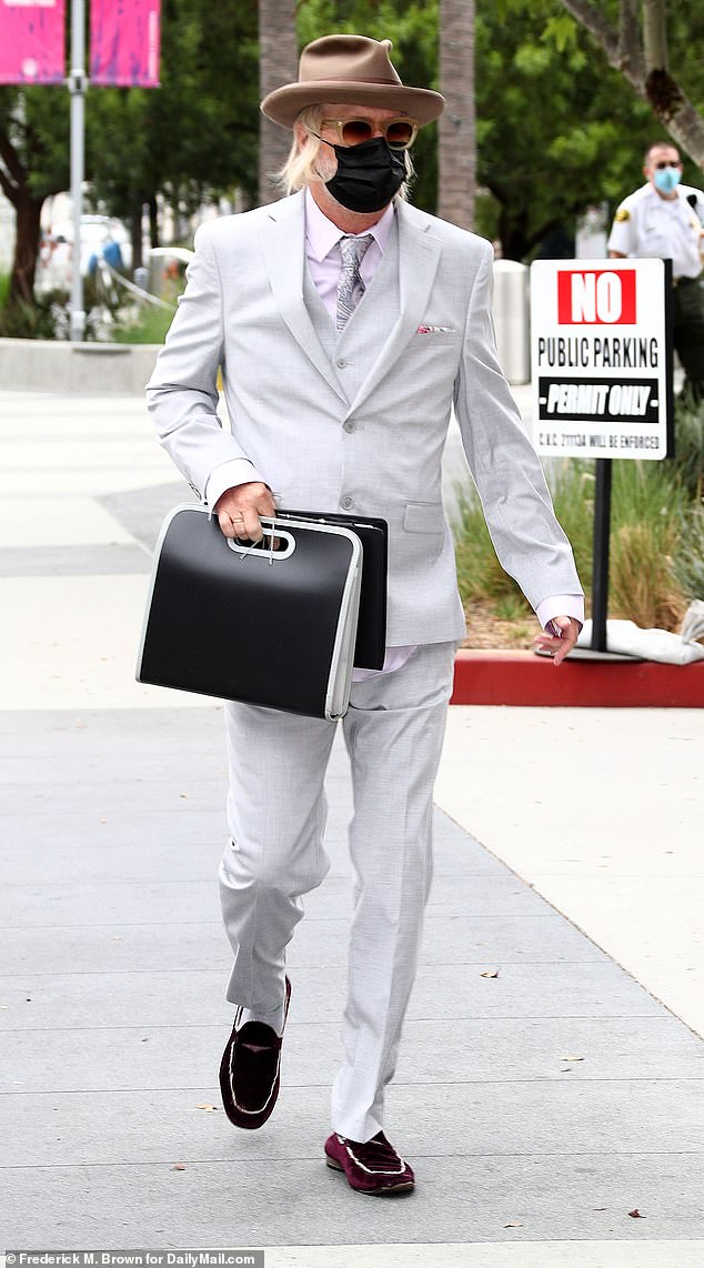 Lockwood was snapped en route to court in LA this past August