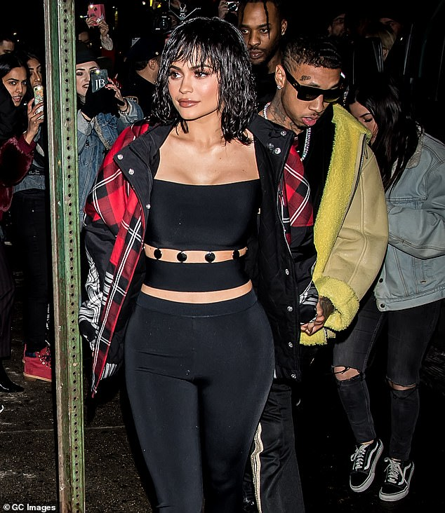 They were a thing for a long time: Jenner and Tyga are seen arriving to the Alexander Wang February 2017 fashion show during New York Fashion Week