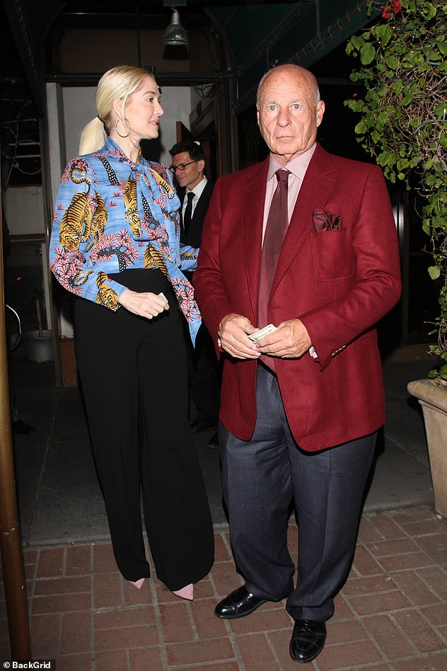 Through thick and thin: The pair - pictured out in 2017 - had been quarantining together in LA
