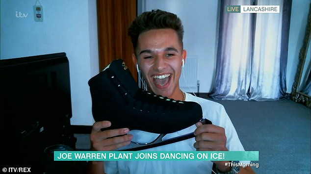 Delighted: Of being on the show, Joe-Warren said on This Morning he would 'try my best and learn a new skill. It's a new challenge, I've never done anything like it before, so super excited'