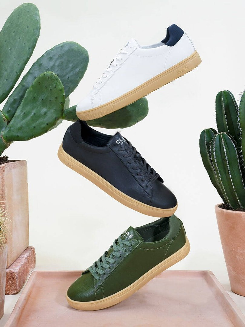 Clae announces first-ever cactus leather sneaker