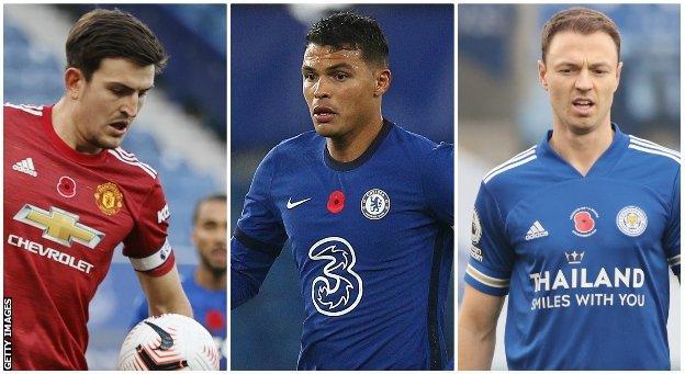 Harry Maguire, Thiago Silva & Jonny Evans