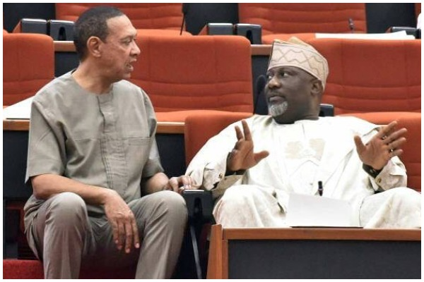 Image result for Melaye ignores own seat, sits among PDP senators