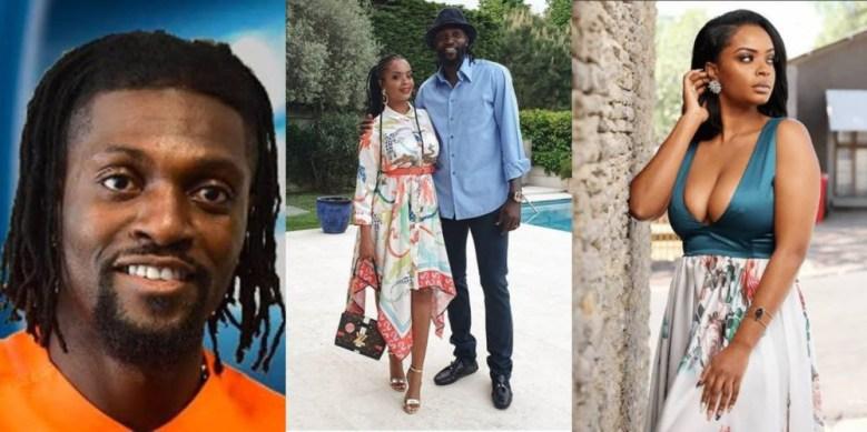 Image result for Emmanuel Adebayor split