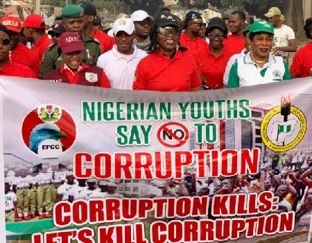NYSC, EFCC, others walk against corruption in Oyo State